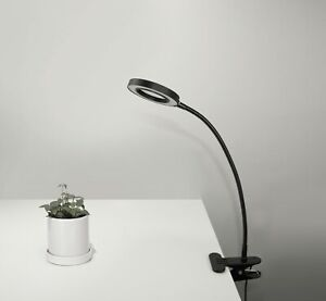 USB Black Clip LED Magnifier Flexi Light. 961114B Craft/Reading Desk Table Lamp
