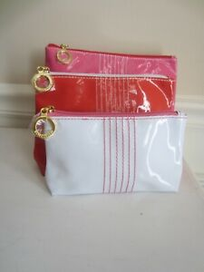 Estes Lauder NEW Patent Leather Cosmetic Bag SET 3 pieces ❤️Beautiful