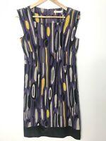 Barkins Dress Corporate Tunic Mid Length Sleeveless Business Size 10 Work