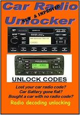 NEW & IMPROVED ULTIMATE CAR AUDIO RADIO STEREO CODE UNLOCK