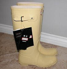 NWT Women Hunter Origina Gloss Tall  Boots Yellow SIZE 10M/11F