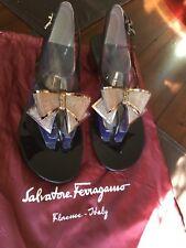Salvatore Ferragamo Jelly Sandals Thong Bow size 9