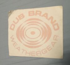Dub Brand Weathergear Vintage 90's Snowboard Skate Sticker Die Cut