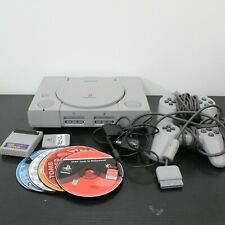 Sony Playstation 1 Grey Game Console (SCPH-1001) with 8 Games & 2 Controllers