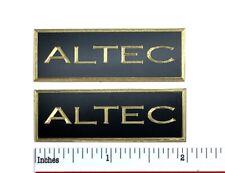Altec Speaker Grill Badge Logo Solid Brass Custom Engraved Pair Free Ship