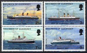Guernsey 1973, Ships, Mail boat set MNH, Mi 75-78