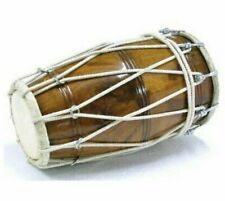 Professional Dholak With Rope For Orchestra in Natural Wood Color With Cover