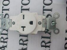 Leviton 5801-I 20A-250V Narrow Body Grounding Single Side Wire Receptacle