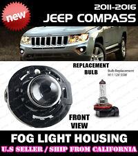 11 12 13 14 15 16 JEEP COMPASS Replacement Fog Light Driving Lamp Lense Housing