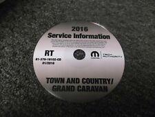 2016 Dodge Grand Caravan Factory Shop Service Repair Manual CD SXT R/T 3.6L V6