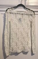 Free People Lace Top Xs