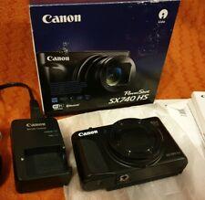 Canon Powershot SX740 HS Digital Camera - Black 4k 20.3mp Vlogging Flip Lcd