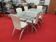 Frag Italian Designer Dining Table And Chairs Splash Glass Effect
