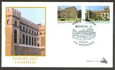 "Vatican City Sc# 1655-6: Europa 2017: ""Castles"" on FDC"