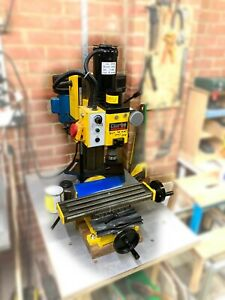 used Clarke CMD300 Milling Drilling Machine with collet set and accessories