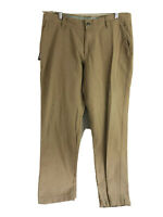 Columbia Outdoor Pants Mens 36 x 32 Brown Flat Front Casual 100% Cotton Hiking