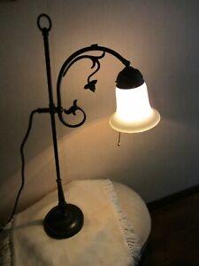 tischlampe jugendstil Berliner Messing Lampe