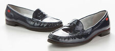 Marc Joseph New York Womens Size 7 East Village Blue Patent Leather Loafer Shoes