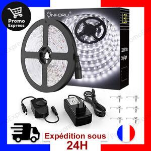 10M Ruban LED Dimmable Bande LED 5000K Blanc Froid 12V Bandeau Flexible Collant