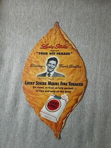 Rare Frank Sinatra LUCKY STRIKE Tobacco Leaf Fan. 13 in. X 7 1/4in.