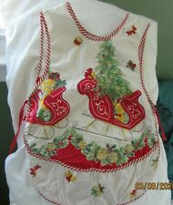 New listing Vintage Hand Made Child'S Christmas Apron 1960's? Pre owned Good Condition