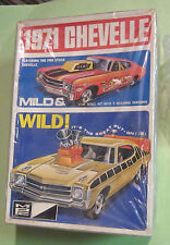 MPC 1971 Chevy Chevelle Annual Kit #7128 3-in-1 Unbuilt Mild & Wild Drag 71