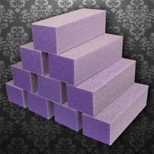 10PC 3-way Premium Buffers Files Acrylic Pedicure Sanding Manicure Nail Art- USA