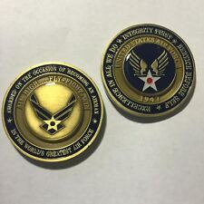 Air Force Airman Award Aim High ... Fly Fight Win Military Challenge Coin