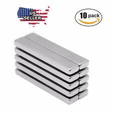 10x N52 Big Block Bar Fridge 60 x10 x 3mm Magnet Strong Rare Earth Neodymium US