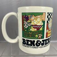 Vintage Ultima Ben Jerry Ice Cream Mug Cup USA Dessert Frozen Yogurt Novelty Tea