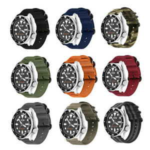 18/20/22mm Durable Military Woven Nylon Watch Band Strap For Seiko Diver's Watch