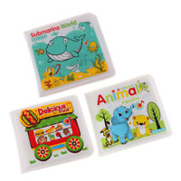 3 Pieces Baby's Bath Time Book Fun Colorful Waterproof Early Educational Toy