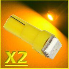 2X LED T5 SMD GIALLO Lampade Lampadine Posizione Per Fari Angel Eyes Quadro MOTO