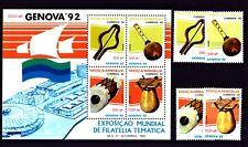 Mosambik 1992 - Musikinstrumente - Maultrommel - Flöte - Trommel - Drums -