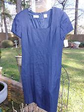 NWT sz 14 LIZ CLAIBORNE  DRESS SPRING EASTER MOTHER'S DAY navy blue