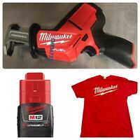 New MILWAUKEE 2520-20 M12 12V Fuel Brushless Hackzall 48-11-2420 2.0 T-Shirt