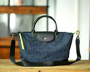 Longchamp Le Pliage LGP Tote Handbag Large Authentic From France - Blue #