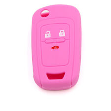 Free Shipping Pink Car Key Cover Silicone Case For Chevrolet Cruze TRAX Spark