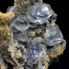 305g Very Rare CLEAR Fluorite Mineral Quartz Crystal from Fujian,NO WATER NO OIL