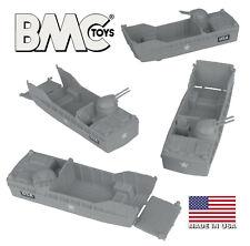 BMC Marx Recast Landing Craft 4pc Gray Plastic Army Men Higgins Boat LCVP