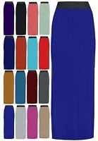Ladies Women Plain Gypsy Skirt Long Stretchable Tube Skirt Elasticated Maxi Dres