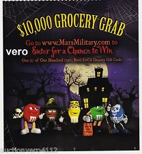 2010 magazine ad M&M's HALLOWEEN $10,000 Grocery Grab mms M&M multi color