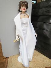 Franklin Mint Jackie Kennedy Doll, Wardrobe Trunk and Wedding Photo in Frame