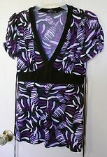 B-Wear * Mixed Purple short sleeve pull over top size M