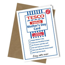#251 Greetings Card TESCO VALUE Comedy Rude Funny Humour Mothers Day Card