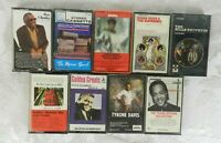 Lot of 9 Classic R&B Cassette Tapes Ray Charles Motown Diana Ross Mills Brothers