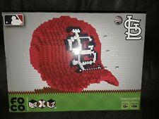 New Forever Collectibles St Louis Cardinals BRXLZ 3D Cap 1136 Bricks Puzzle Set