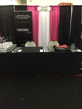 Fitted Black Table Cover Fire Retardant 8 Foot Trade Show Display Free Shipping