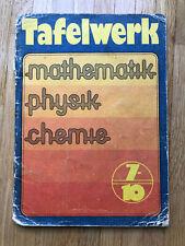 DDR Tafelwerk Mathematik - Physik - Chemie - Klassen 7 bis 10 - Buch -