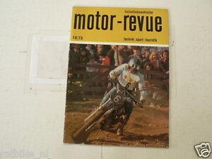MOTOR-REVUE 1975-10 FALTAS,SKODA RALLYE 1975,HAUGLAND,PAL,RIM RALLYE,JAWA YEZDI